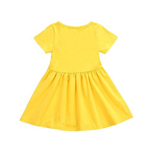 Kleider Kinderbekleidung Honestyi Kleinkind Infant Kinder Baby Mädchen Kleid Emoji Emoticon Smiley Sonne Kleider Outfits (Gelb,100)