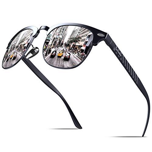KITHDIA Polarisiert Sonnenbrille Herren Damen AL-Mg Ultraleichten Metallrahmen S046