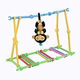 Omiky® Puzzle Bodybuilding Interaktive Baby Affe Klettern Spielzeug Für Fingerlinge Affe (Mehrfarben)