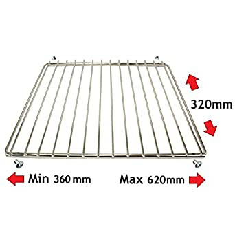 SUDS-ONLINE Universal Chrome Plated Adjustable Extendable Cooker Oven Grill Shelf