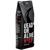 DEAD OR ALIVE Espresso No3 Kaffeebohnen - Extra starke koffeinreiche, langsam geröstete italienische Mischung - 100…