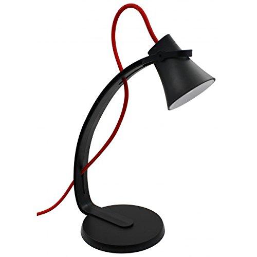 LED Schreibtischlampe ALEX 3,2W Tischlampe Schreibtischleuchte Büroleuchte für Kinder und Büro Modern (Schwarz)