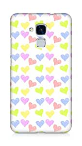 Amez designer printed 3d premium high quality back case cover forHuawei Honor 5C (hearts)