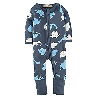 be36d70f546 ... Big Elephant Baby Boys 1 Piece Long Sleeve Sleepwear Graphic Print  Zipper Romper