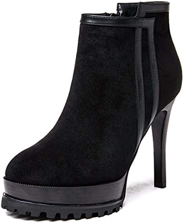 LBTSQ-Mode/Chaussures Femme/Bien Femme/Bien LBTSQ-Mode/Chaussures Haut Talon des Bottes des Bottes Imperméables 10 Cm Plate - Forme Mince Tube... 183610