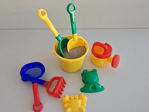 Preisvergleich Produktbild Sandspielzeug, Eimergarnitur 8-tlg. für Kinder, bunt, robust, Kinderspielzeug