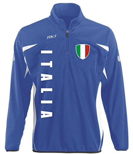 em-shirts Italien Italia Sport Pullover BLAU Sweater Trikot Look (S)