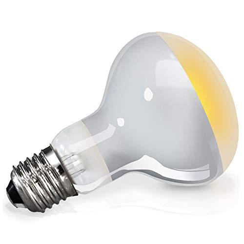 LIBWX Artículos para Mascotas Bombilla/luz/lámpara UVA de Reptil para Uso de Reptiles y Anfibios - Excelente Fuente de Calor y luz para Rayos UV y Rayos solares,25W
