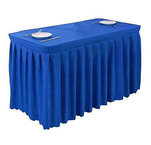 Table de table de bureau / jupe Ensemble de table de mariage pour mariage de jupe bleu