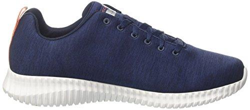 Skechers Herren Elite Flex-attard Sneaker Blau (blu Scuro / Arancione)