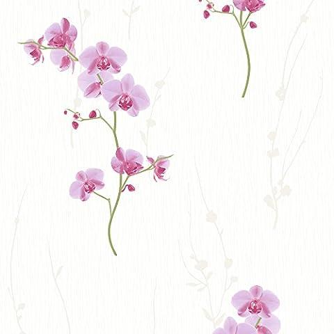 Muriva F56313 12 Orchid Wallpaper Rolls - Pink