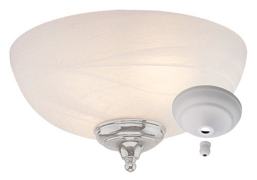 Alabaster Finish (Monte Carlo MC49-L Dome Bowl Light Kit with Brushed Steel and White Finish Bowl Caps, White Faux Alabaster Finish by Monte Carlo)