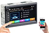 Creasono DIN 2 Radio: 2-DIN-MP3-Autoradio mit Touchdisplay, Bluetooth, Freisprecher, 4X 45 W (Doppel DIN Autoradio)