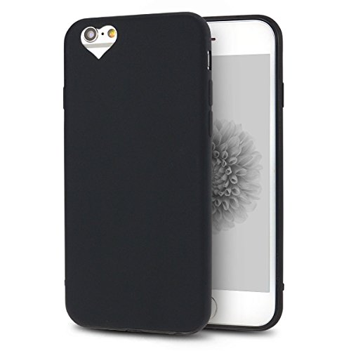iPhone 6S Plus Hülle, iPhone 6 Plus Silikon Schutzhülle, Anfire Candy Handy Case Hülle für Apple iPhone 6S Plus / 6 Plus (5.5 Zoll) Liebe Herz Muster Weich TPU Silikon Schutzhülle Schön Muster Schale  Schwarz