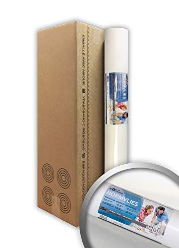 NORMVLIES 150 g Renoviervlies 1 Karton 4 Rollen 75 m2 Glattvlies 299-150-4 Malervlies glatte überstreichbare Vliestapete weiß