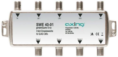 Axing SWE 40-01 SAT Einspeiseweiche für Quad-LNB (4-fach) - 2200 Quad
