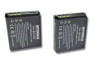 INTENSILO 2x Li-Ion Batteria 1050mAh (3.6V) per Fotocamera Camcorder Video Sigma DP1 Merrill, DP2 Merril, DP3 Merrill come D-Li106, Sigma BP-41.