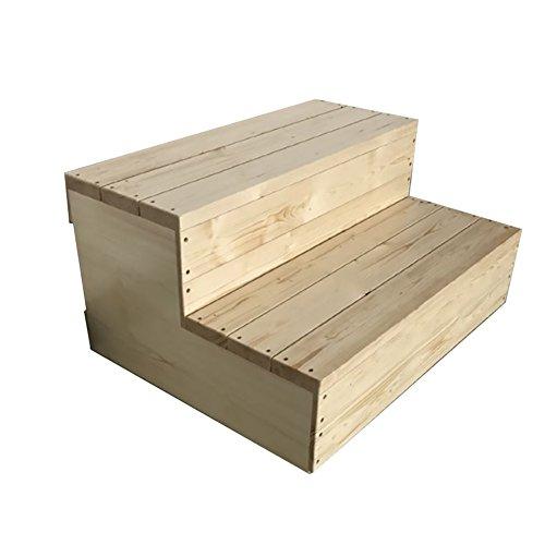 ChangDe Holzstufenhocker Küche Holz Trittleiter Leitern für Erwachsene & Kinder Haushaltswaren Tragbare kleine Fußhocker Schuhbank Blumenregal Indoor Hocker Trittleiter aus Holz