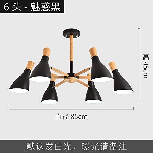 Persönlichkeit Wohnzimmer Büro LED-Licht 6 schwarz mit zweifarbigen LED7 Watt Birne -