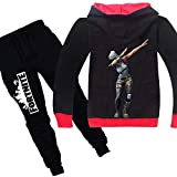 2 Pcs/set 3D Digital Printing Fortnite Fashion Cotton Kid Clothing Set for Children, Including Long Sleeve Hoddie and Trouser