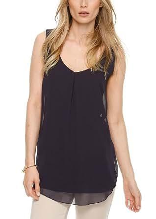 s.Oliver BLACK LABEL Damen T-Shirt 11.404.33.7254, Einfarbig, Gr. 44, Blau