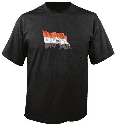 T-Shirt für Fußball LS198 Ländershirt mehrfarbig Yemen - Jemen Fahne freie Farbwahl