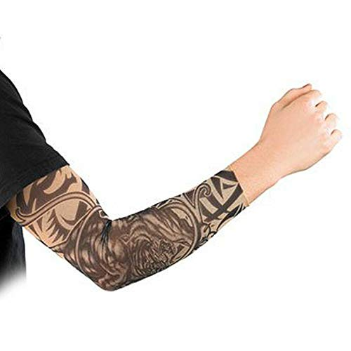 Monsterzeug Tattoo Ärmel - Tribal, Täuschend echte Tattoo Attrappe, Unisex, Einheitsgröße