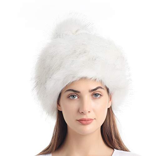 Soul Young Cappello di Vera Pelliccia di Volpe per Donna Russo Russian Pompom