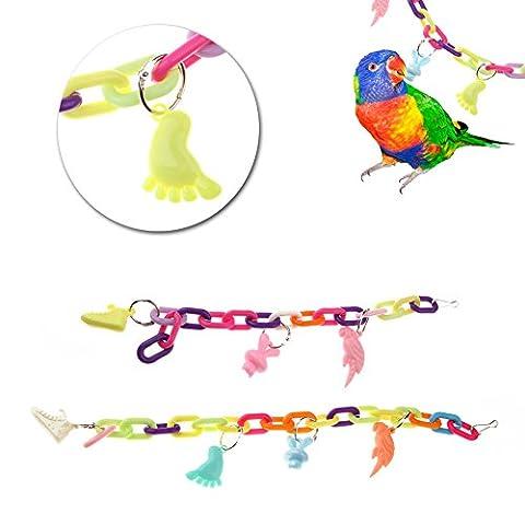 Dairyshop Pet Bird Bites Parrot Swing cages pour calopsitte élégante Amazones perruche jouer Mâcher Jouets