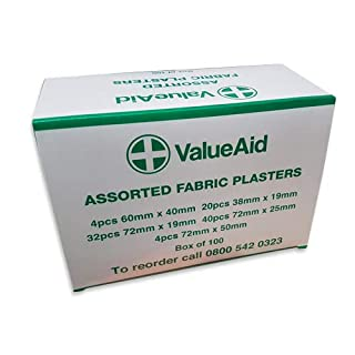 Value Aid Assorted Fabric Plasters - Box of 100