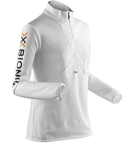 X-Bionic Beaver Maillot seconde peau à fermeture Éclair pour femme Blanc