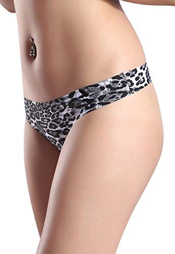 Wealurre Damen Unterwäsche Low Rise Tanga Microfiber Thong Leopard