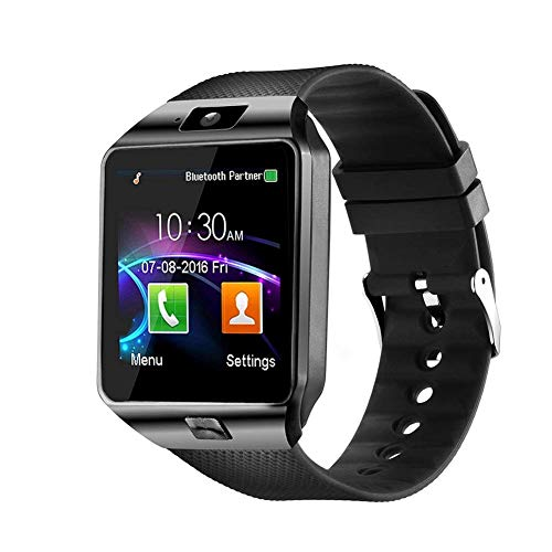 Smart Watches with Bluetooth, Sim Card (4g Supported) Smart Watch for Boys and Mens (smartwatch) Black