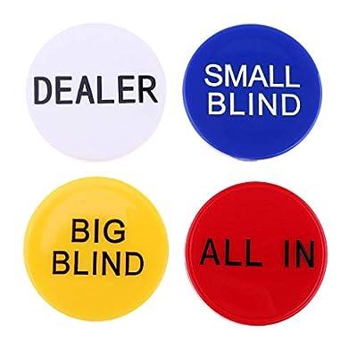 P Prettyia Big Little Blind All in Poker Chip Dealer Button Texas Hold'em Props
