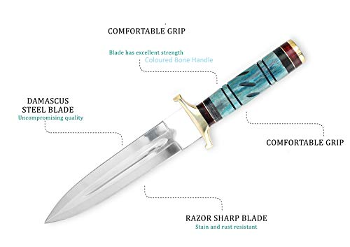 Cuchillo de caza con cuchillo de 33 cm de largo