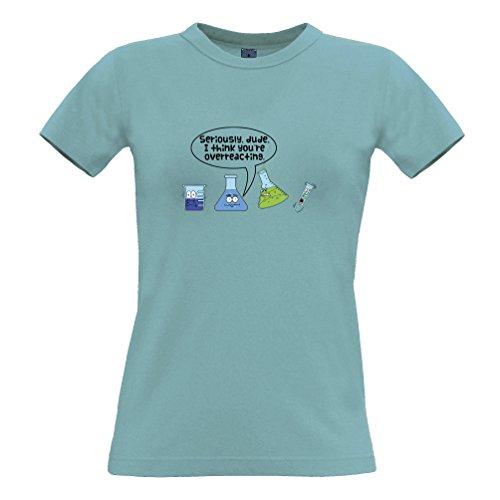 Ich Glaube, Sie Sind Overreacting, Slogan Printed Design-Neuheit Geeky Frauen T-Shirt (Damen Neuheit Shirt)