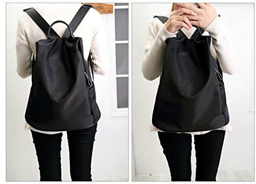 Imagen de coofit  de mujer impermeable oxford  escolares casual bolso  de viaje, negra alternativa