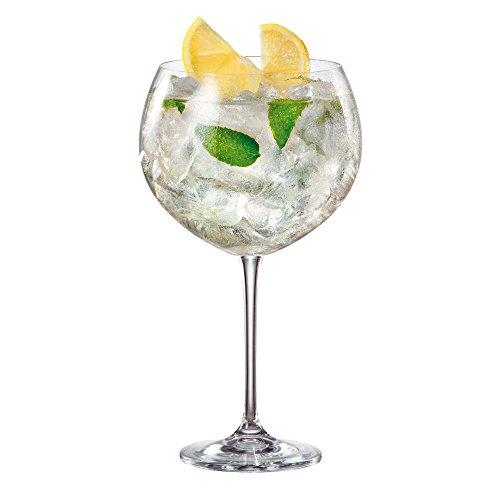 Enebro Gin vasos de cóctel de carpintero/850ml–caso de 6–gran globo de Gin gafas
