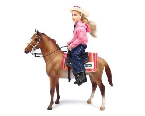 Breyer–61070–Dinosaurierfigur Cow Boy und Pferd Western
