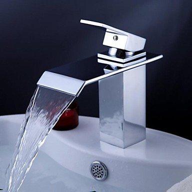 Chrom einzigen Handgriff Wasserfall Bad Waschtisch Waschbecken Wasserhahn mit extra großen rechteckigen Auslauf, l3180a