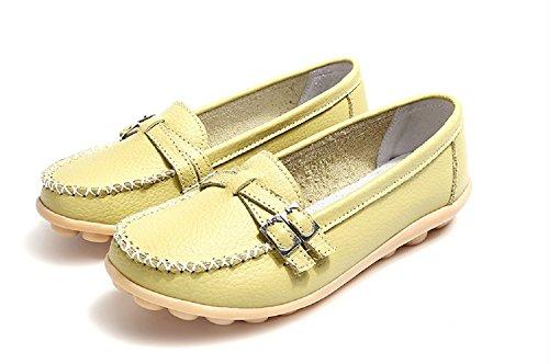 NEOKER Mocassins Femme Cuir Casuel Confort Slip On Espadrilles Conduite Chaussures Compensées Plate Noir Multicolors 34-44 Vert