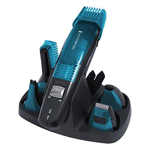 Remington Grooming-Kit Vakuum PG6070 , Stylingset für Gesichts- und Körperhaare, Vakuum-Technologie, schwarz/blau