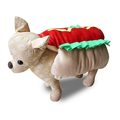 oye Funny Hot Dog Dress Up Kostüm Puppy Pet Halloween Weihnachten Cosplay Kleidung ()