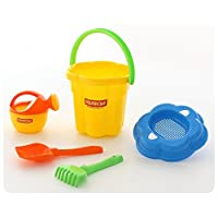 Polesie 4825 280 Size Sieve Shovel No. 5 Rake No. 5 Small Watering Can No. 4-Sets: Flower Pail, Big, Multi Colour