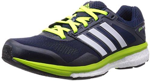 Adidas - Supernova Glide Boost 7, Sneakers da uomo Blu (Blau (Collegiate Navy/Ftwr White/Solar Yellow))