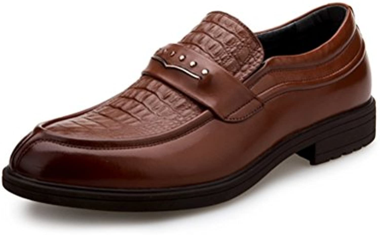 LYZGF Männer Jugend Business Casual Fashion Atmungs Gentleman Lederschuhe