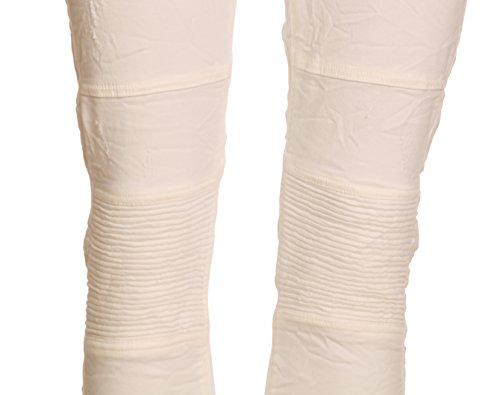 BASIC.de, Pantaloni aderenti, modello Biker Bianco