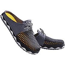 VWU Femme Homme Amants Sabots Chaussures d'été Dos nu Clogs Antidérapant Pantoufles Plage Sandales 6 couleurs