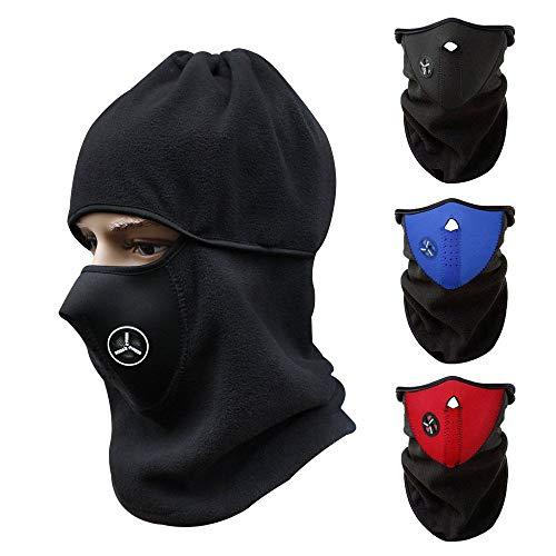 3pcs unisex cortavientos media cara máscara invierno cálido cuello c