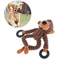 ecLife Juguetes para Mascotas, Gatos, Perros, Sonido, Peluche, Suave y Divertida Cuerda para muñeca, Masticar y Regalar a Animales